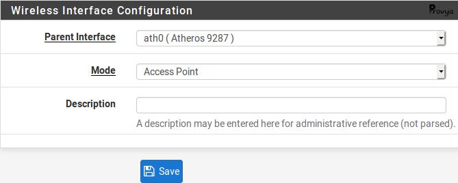 configuration interface wifi pfSense