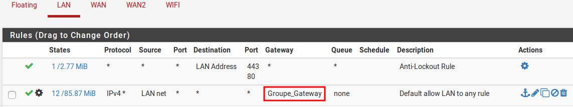 configuration gateway firewall pfSense