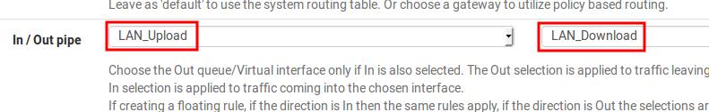 Configuration limiters firewall pfSense