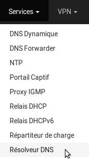 pfSense - Services - DNS Resolver