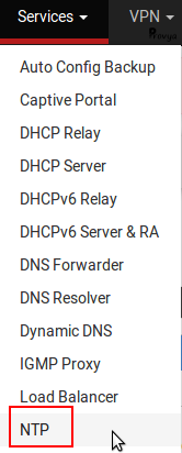 Service > NTP - pfSense - Provya