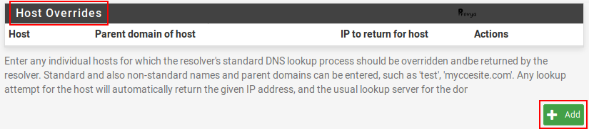Ajouter une entrée DNS (host overrides) sous pfSense - Provya
