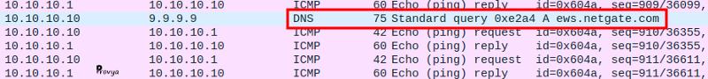 Extrait capture tcpdump depuis wireshark - bug pfSense - Provya