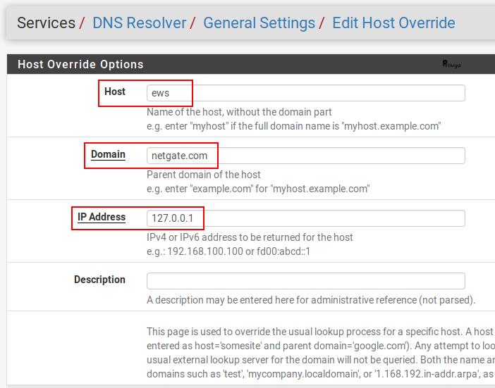 Exemple de l'ajout d'une entrée DNS (host overrides) sous pfSense - Provya
