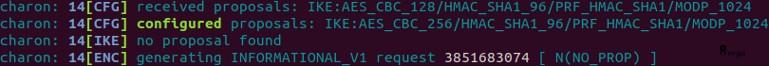 Erreur chiffrement sur VPN IPsec phase 1 côté répondant pfSense - Provya