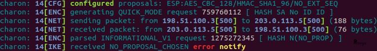 Erreur chiffrement sur VPN IPsec phase 2 côté initiateur pfSense - Provya