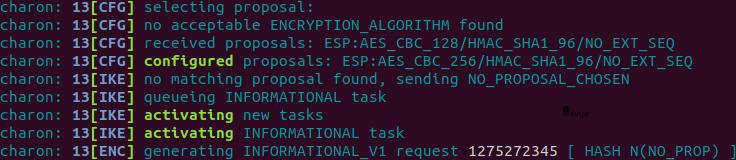 Erreur chiffrement sur VPN IPsec phase 2 côté répondant pfSense - Provya