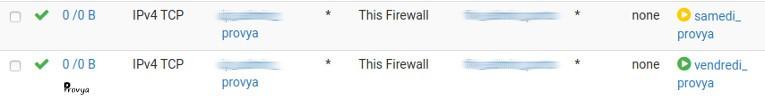 exemple règle de firewall - pfSense - Provya