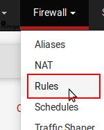 menu Firewall > Rulles - pfSense - Provya