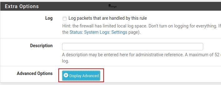 options avancées des règles de filtrages - pfSense - Provya